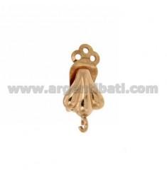 HOOK EARRINGS CLIPS 12X10 MM FAN IN ROSE GOLD PLATED AG TIT. 925