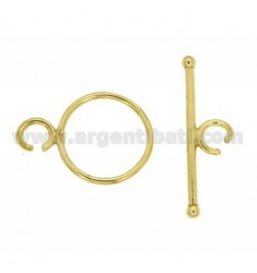 CLOSING T.BAR 18 MM IN AG Plated OROTIT 925 ‰