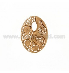 CENTRAL OVAL 33X24 MM IN AG Arcbound AND ROSE GOLD PLATED TIT 925?