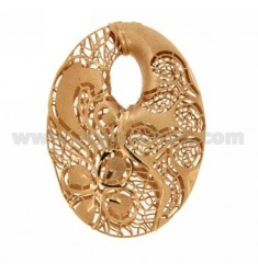 CENTRAL OVAL 50x36 MM IN AG Arcbound AND ROSE GOLD PLATED TIT 925?
