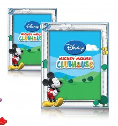 PORTAFOTO CLUB HOUSE-MICKEY MOUSE CM 13X18 CELESTE DISNEY BABY