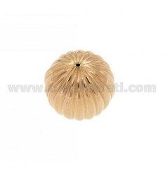 DISTANCE STRIPED BALL 20 MM IN ROSE GOLD PLATED AG TIT 925