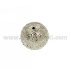 DISTANCE BALL COCONUT 20 MM IN AG TIT RHODIUM 925