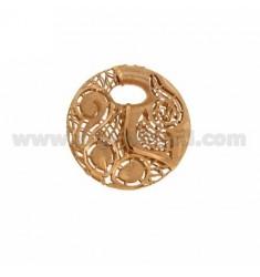 CENTRAL RUND 30 MM IN AG galvanisch UND ROSE GOLD TIT 925?