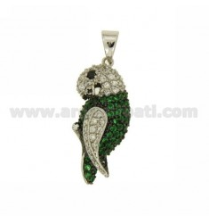 PENDANT PARROT 30X14 MM IN AG TIT 925 ‰ AND ZIRCONIA
