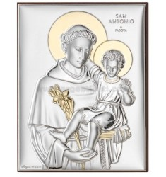 PANEL SAINT ANTHONY OF PADUA C / CM 13X18 GOLD R / WOOD ARG