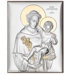 PANNELLO S. ANTONIO DI PADOVA C/ORO CM 13X18 R/LEGNO ARG.