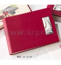 DEGREE RED LEATHER ALBUM 15x20 CM ARG.