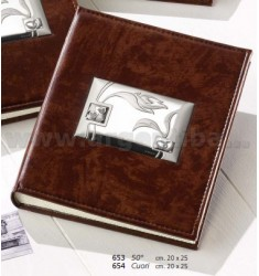 50th ANNIVERSARY ALBUM 20X25 CM BROWN LEATHER ARG.