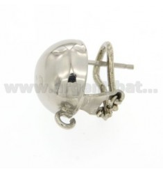 FOOTBOARD CLIPS EARRING WITH 14 MM AND ATTACK jersey SILVER RHODIUM 925