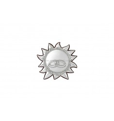 ICONA SOLE FEDI CM 5.7X5.3 R/LEGNO ARG.