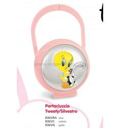 PORTACIUCCIO TWEETY E SILVESTRO ROSA