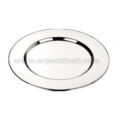 SOTTOBICCHIERE LISCIO CONF. 6 PZ. SILVER PLATED