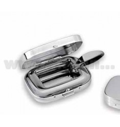 ASHTRAY ROUND SILVER PLATED