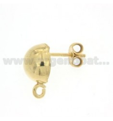 A STUD EARRINGS WITH FOOTBOARD 10 MM AND ATTACK jersey SILVER GOLD PLATED 925