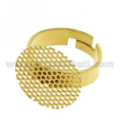 MULTIHOLE GOLD PLATED RING IN TIT AG 925 ‰