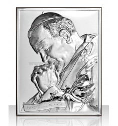 ICON RECTANGULAR JOHN PAUL II CM 9X13 R / WOOD ARG