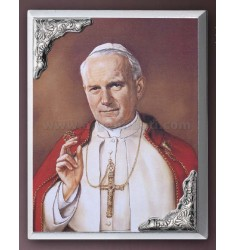 PANEL C / PRINT POPE JOHN PAUL II CM 16X21 R / WOOD ARG