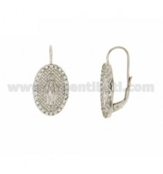 EARRINGS MIRACULOUS IN AG TIT 925 ‰ RHODIUM PLATED AND ZIRCONIA